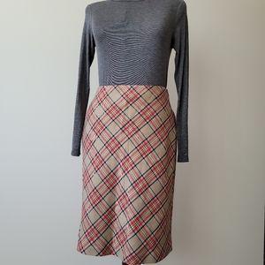 Vintage Smart Set Plaid A-line Skirt